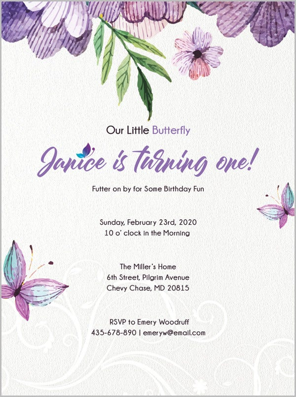 Birthday Invitation Template - 44+ Free Word, PDF, PSD, AI ...