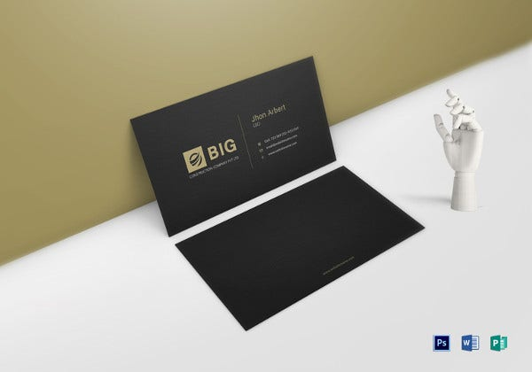 ceo business card word template