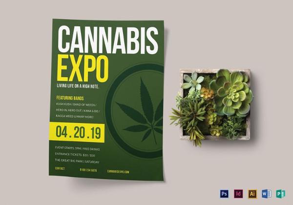cannabis-expo-flyer-template