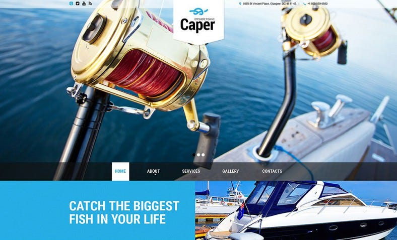 caper website template 788x478