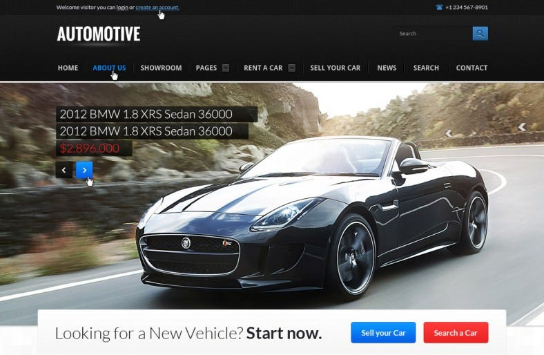 Car Dealer Business Website Template