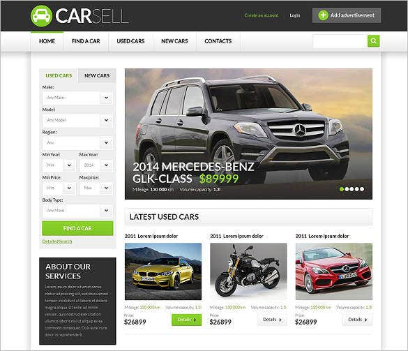 car dealer responsive website template1
