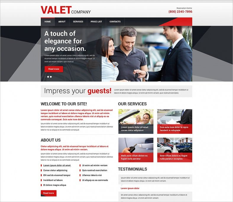 Car Dealer Responsive Website Templates