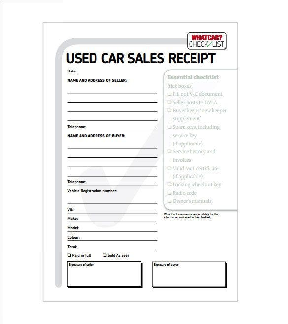 Receipt Template 122 Free Printable Word Excel PDF Format – Cash Sale Receipt