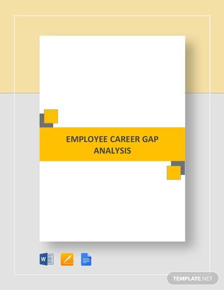 career gap analysis template