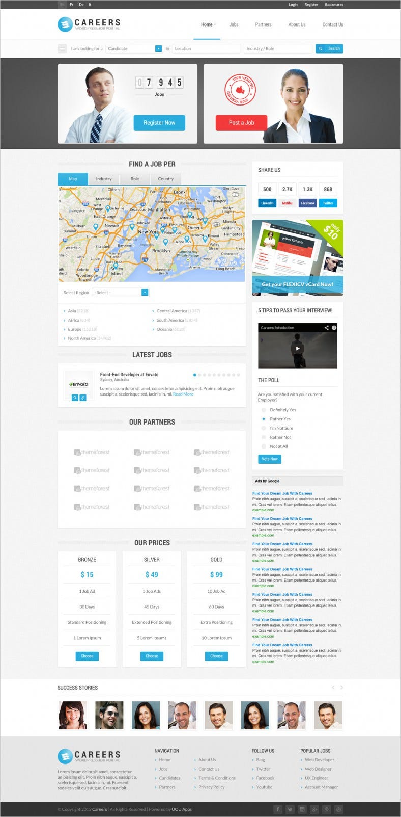 Careers & Job Listing HTML Website Template