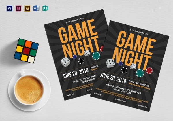 casino gaming flyer template1