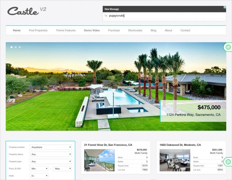 castle real estate wordpress theme 788x610