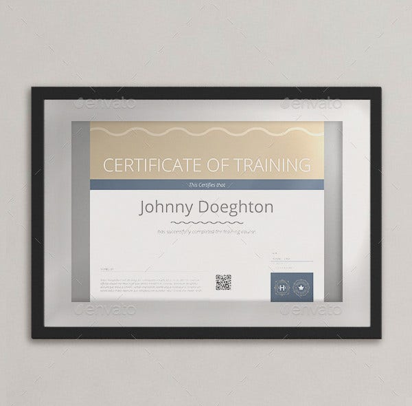 certificate of training template1