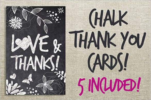chalk thank you cardsbundle