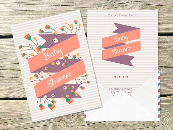 Character Design Pdf Free Download : Baby shower card designs templates word pdf psd