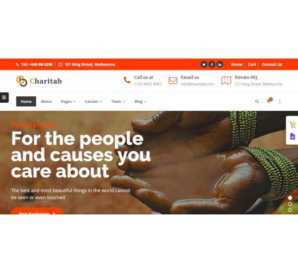 charitab charity wordpress theme