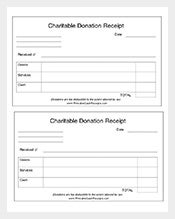 charitable donation receipt format free