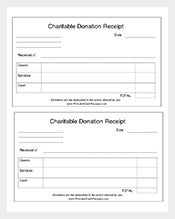 charitable donation receipt format