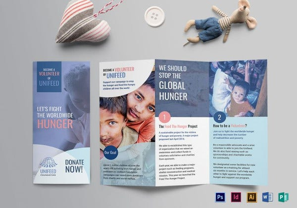 charity brochure indesign template