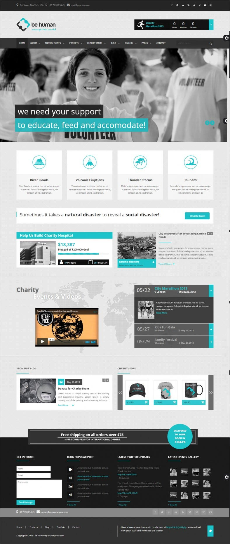 Charity Crowdfunding & Store Website Theme