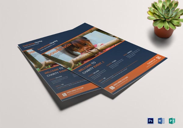 charity fundraisers flyer template