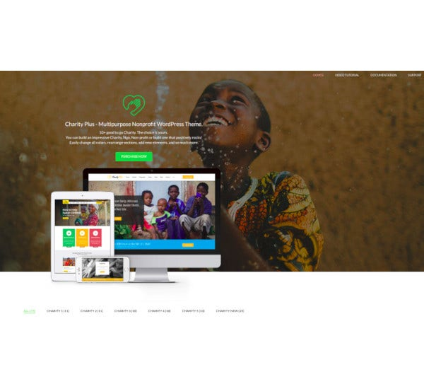 charity plus multipurpose nonprofit wordpress theme