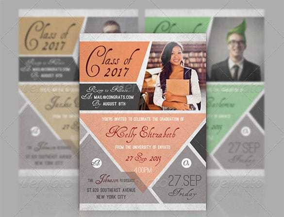 Cheerful Graduation Indesign Template 5