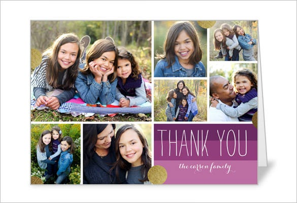 cheerful thanks thank you card