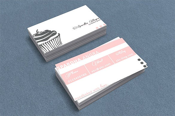 chef visiting card template