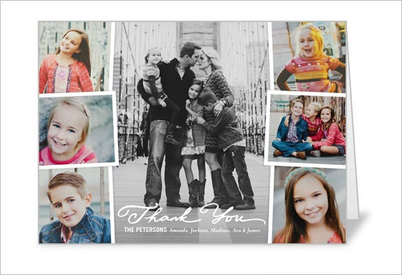 cherished moments collage thank you card