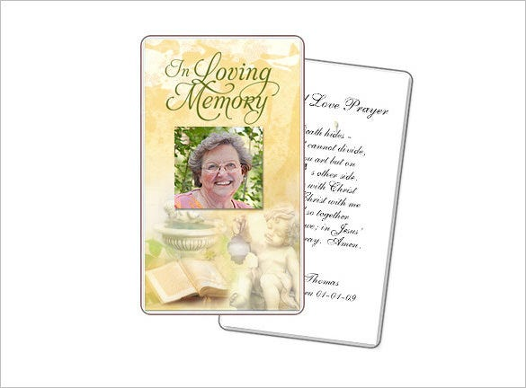 cherub large prayer card template
