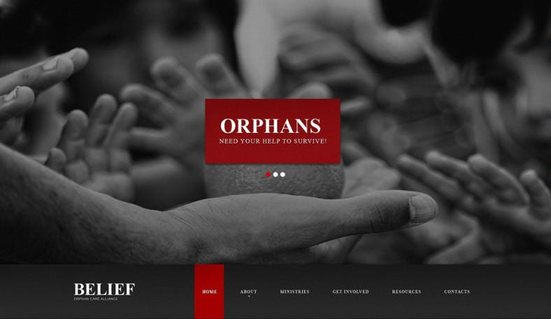 Child Charity Responsive Non Profit Website Template
