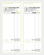 children receipt book format