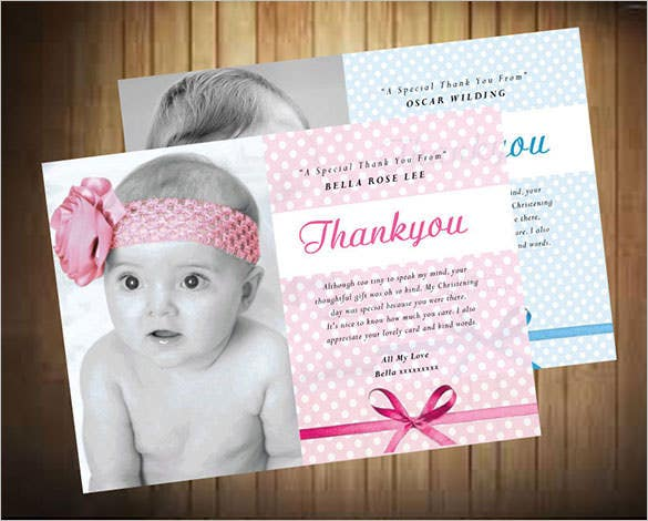 22 Christening Thank You Cards Free Amp Premium Templates