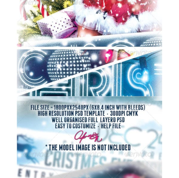 christmas event flyer template1