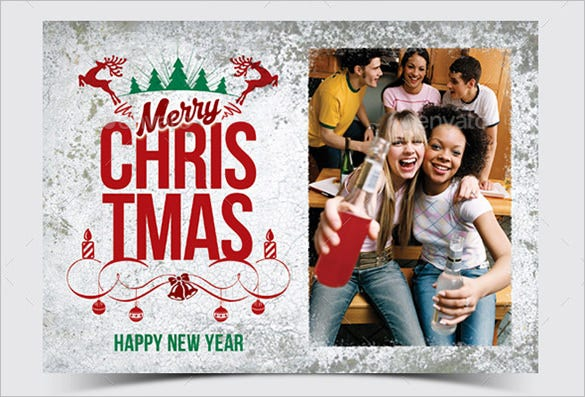 christmas greeting photo card example