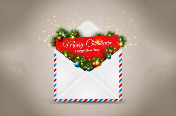 christmas invitation small envelope template
