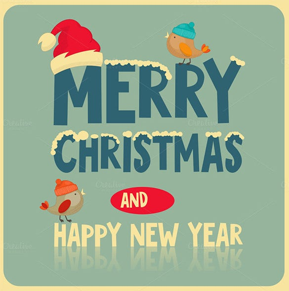 christmas new year congratulations card