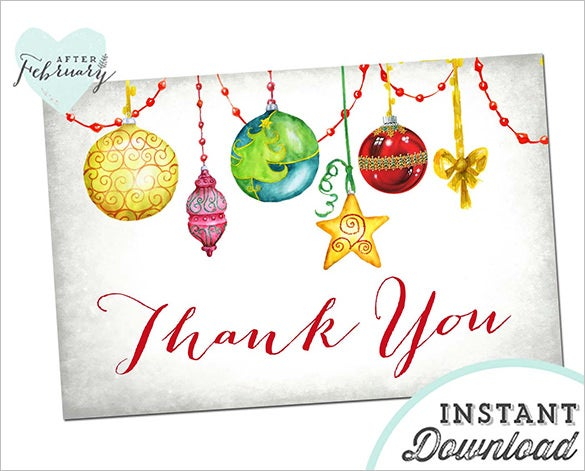 Christmas Thank You Card Templates  Free Psd Eps Jpeg Format