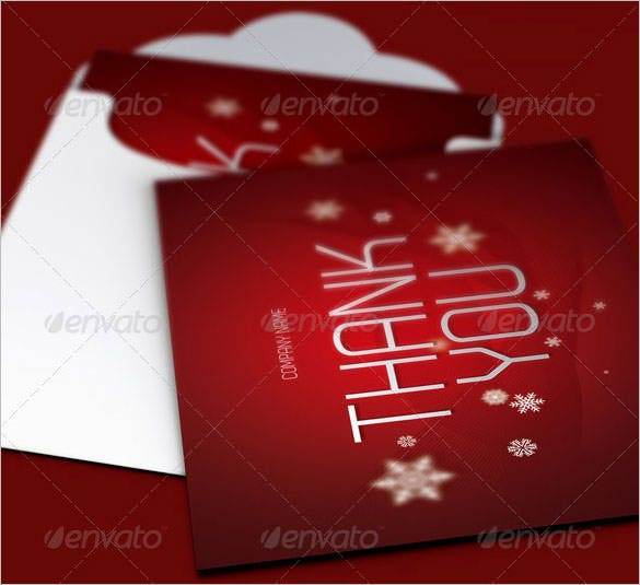 christmas thank you cardtemplate