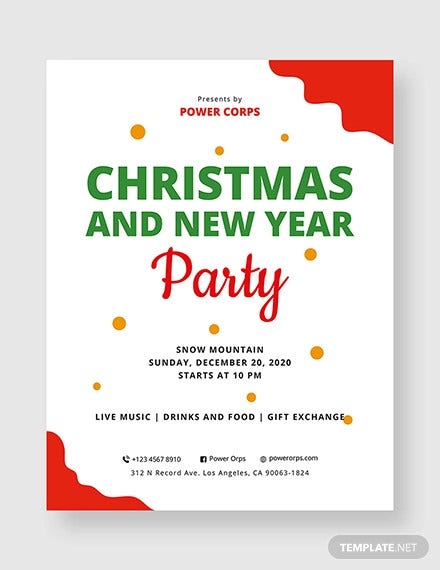 christmas and new year party flyer