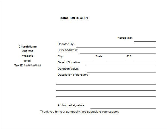Church-Donation-Receipt-Word-Free-Download1 Gift Acknowledgement Letter Template on application form templates, business forms templates, proofs of payments receipts templates, acknowledgement of receipt, shipping forms templates, acknowledgement letters of recognition, acknowledgement of money received, timeline templates,