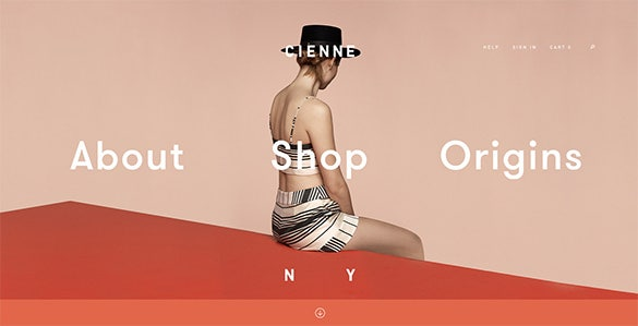 cienne flat design website