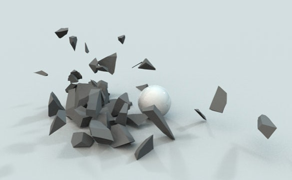 cinema 4d with destruction and mograph