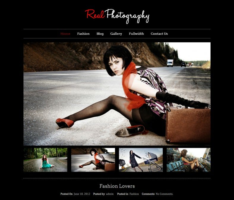 Classic WordPress Theme for Photography