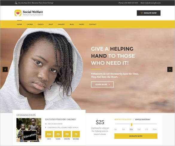 clean design non profit html website template1
