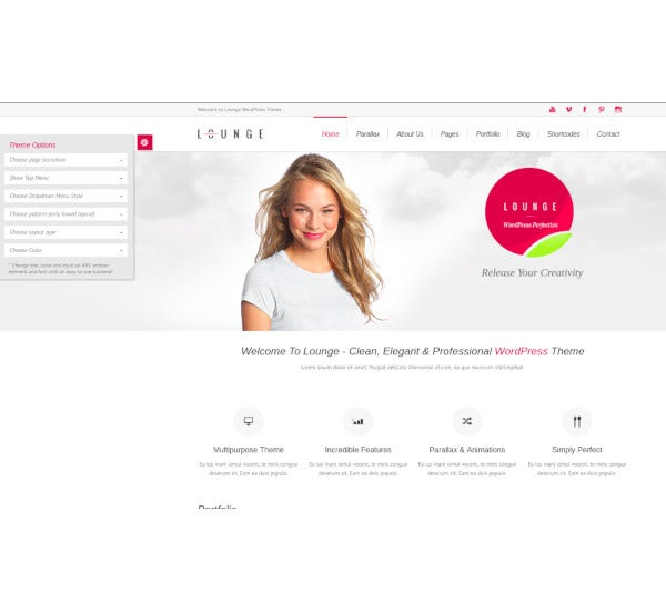 clean elegant wordpress theme