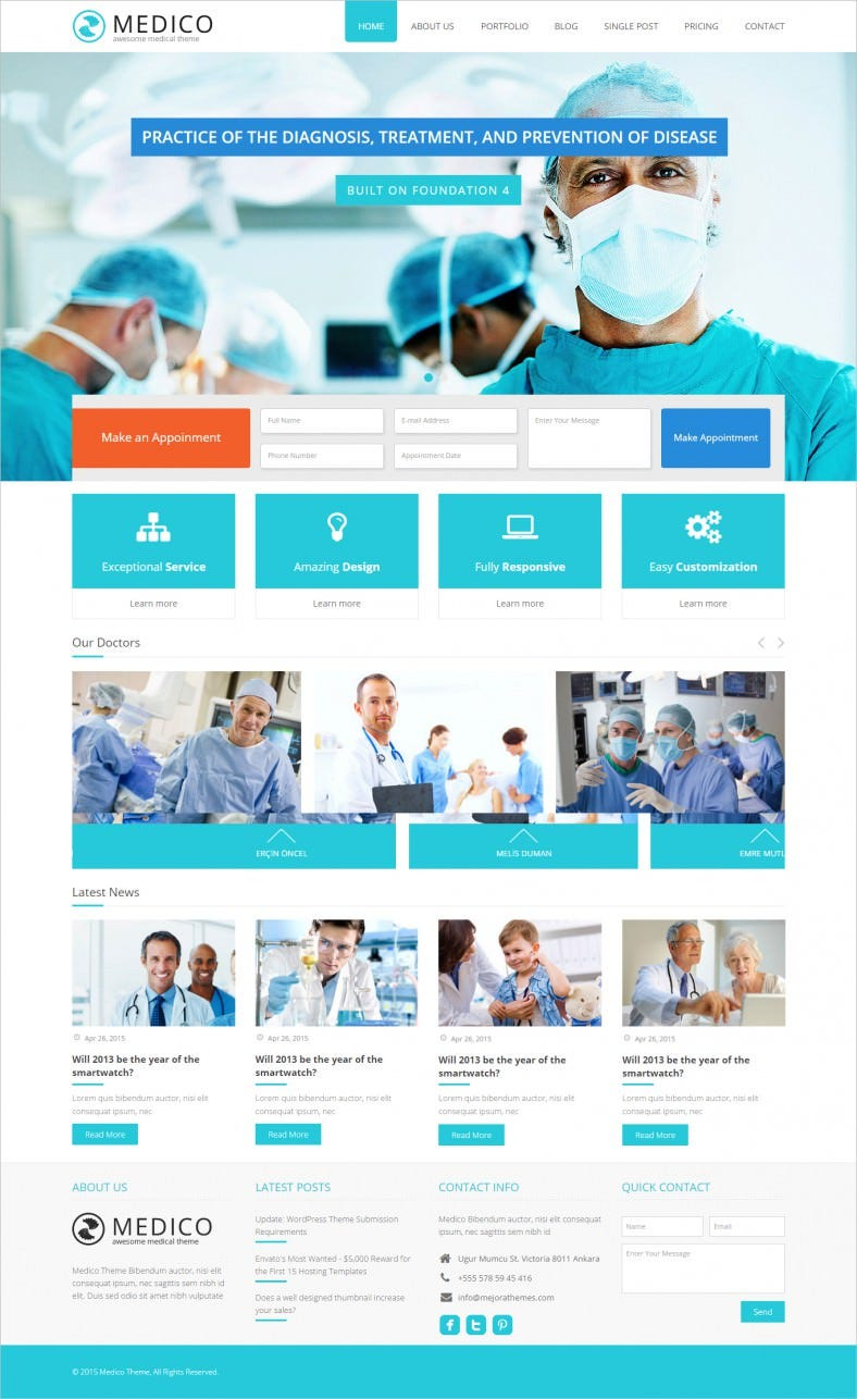 Clean & Modern Health Laboratory Muse Template