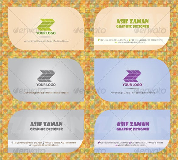 clean visiting card eps ai design example