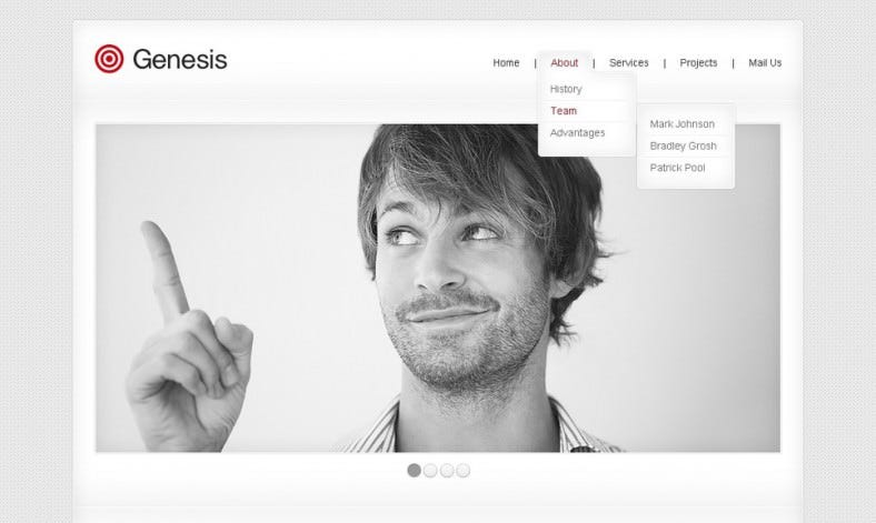 clean website template for advertising agency 788x471