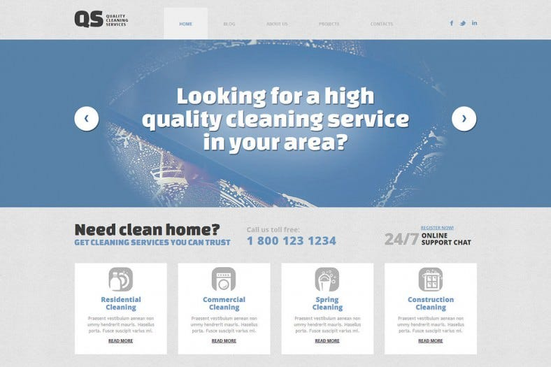 cleaning responsive wordpress theme 788x525