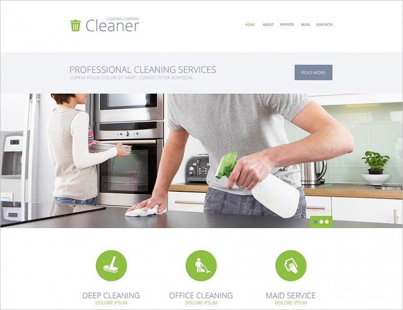 cleaning services wordpress theme 788x606