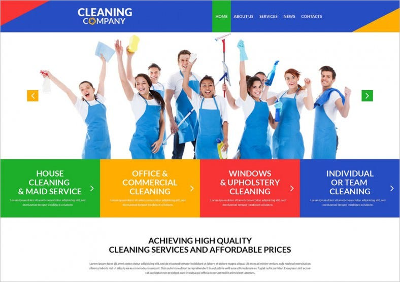 cleaning services for offices wordpress theme 788x556