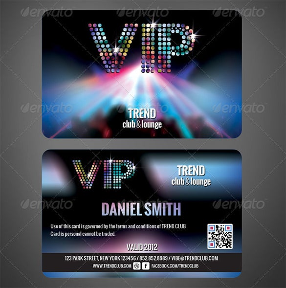 Club Membership Card PSD Design Example  Membership Card Design